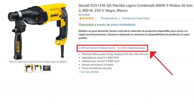 Dewalt D25133K-QS segunda mano